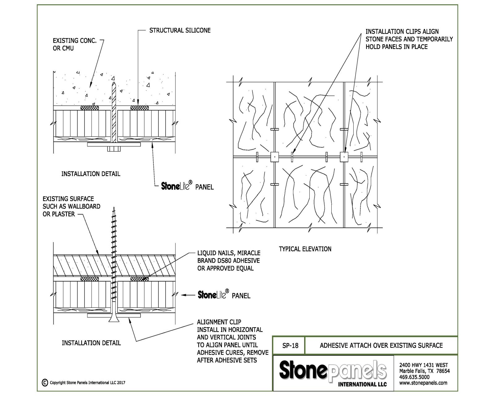 Stone Care Information Stone Panel Installation Instructions
